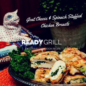 The Ronco Ready Grill Cookbook Recipe Stuffed Chicken with Goat Cheese and Spinach