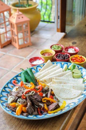 Beer-Marinated Beef Fajitas with Grilled Peppers and Onions