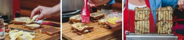 Nutella Banana Sandwiches