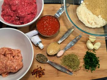 Italian Burger ingredients