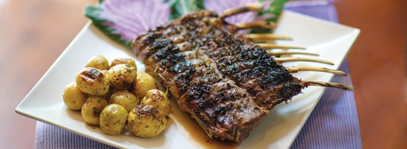 Herb-Crusted Rack of Lamb with Baby Potatoes