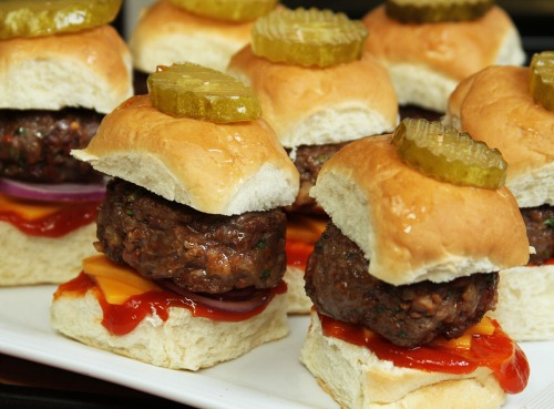 Blue Cheese and Bacon Sliders