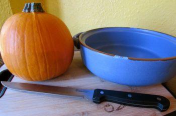 Sugar Pie pumpkin hand picked for this recipe.