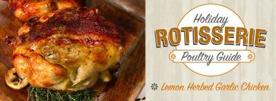 Lemon Herbed Garlic Rotisserie Chicken