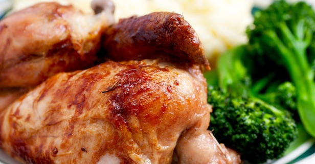 Roasted Half Chicken Dinner