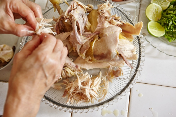 Shredded chicken for the ingredient for Soto, the traditional In