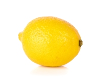 Yellow Lemon isolated on the white background.
