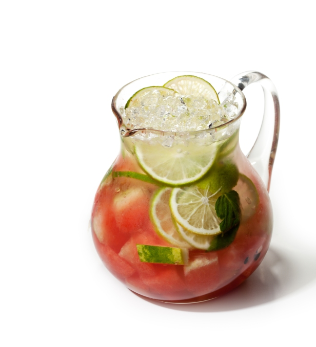 Fresh Lemonade with Watermelon and Lime