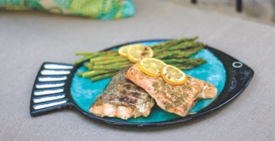 grilled salmon, grilled fish, ready grill recipe, fish recipe, paja sanchez