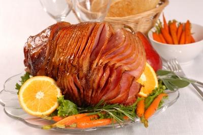 Rotisserie Ham, Brown Sugar Glazed Ham
